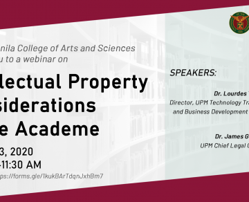 Webinar: Intellectual Property Considerations in the Academe