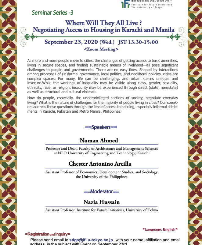 Where Will They All Live ? Negotiating Access to Housing in Karachi and Manila